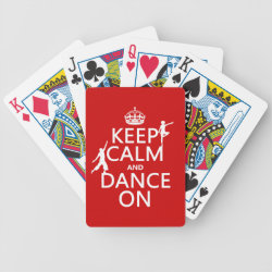 Playing Cards with Keep Calm and Dance On design