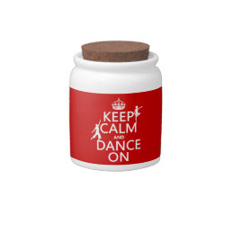 Candy Jar with Keep Calm and Dance On design