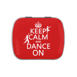 Rectangle Jelly Belly™ Candy Tin with Keep Calm and Dance On design