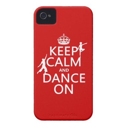Keep Calm and Dance On (in all colors) iPhone 4 Covers