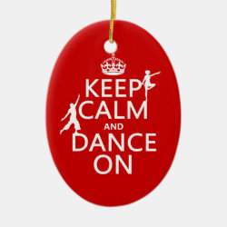 Oval Ornament with Keep Calm and Dance On design