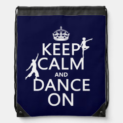 Drawstring Backpack with Keep Calm and Dance On design