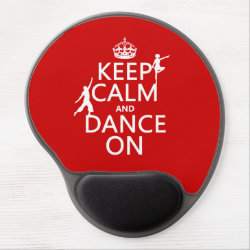 Gel Mousepad with Keep Calm and Dance On design