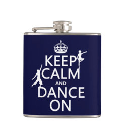 Vinyl Wrapped Flask, 6 oz. with Keep Calm and Dance On design