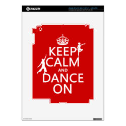 Amazon Kindle DX Skin with Keep Calm and Dance On design