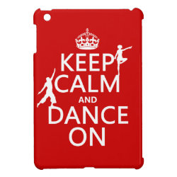 Case Savvy iPad Mini Glossy Finish Case with Keep Calm and Dance On design