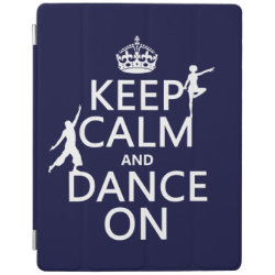 iPad 2/3/4 Cover with Keep Calm and Dance On design