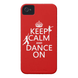 Case-Mate iPhone 4 Barely There Universal Case with Keep Calm and Dance On design