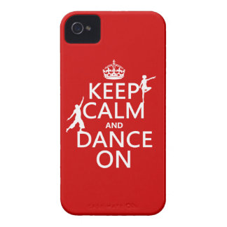 Keep Calm and Dance On (in all colors) iPhone 4 Case