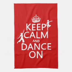 Kitchen Towel 16' x 24' with Keep Calm and Dance On design
