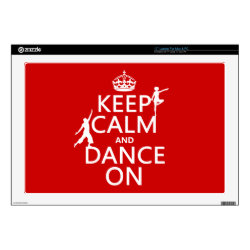 17' Laptop Skin for Mac & PC with Keep Calm and Dance On design