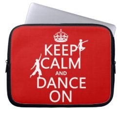 Neoprene Laptop Sleeve 10 inch with Keep Calm and Dance On design