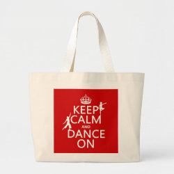 Jumbo Tote Bag with Keep Calm and Dance On design