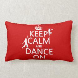 Throw Pillow Lumbar 13' x 21' with Keep Calm and Dance On design