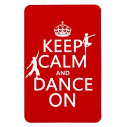 4'x6' Photo Magnet with Keep Calm and Dance On design