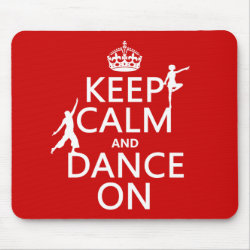 Mousepad with Keep Calm and Dance On design
