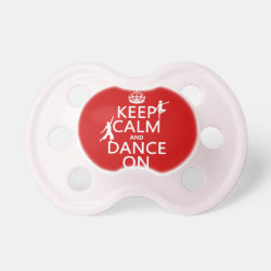 BooginHead® Custom Pacifier (6+ Months) with Keep Calm and Dance On design