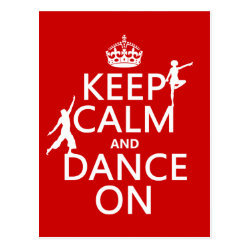 Postcard with Keep Calm and Dance On design