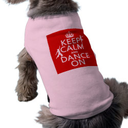 Dog Ringer T-Shirt with Keep Calm and Dance On design