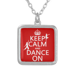 Small Necklace with Keep Calm and Dance On design
