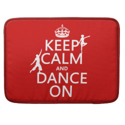 Macbook Pro 15' Flap Sleeve with Keep Calm and Dance On design