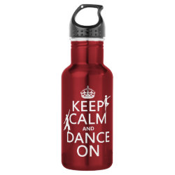Water Bottle (24 oz) with Keep Calm and Dance On design