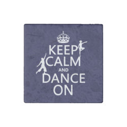 Marble Magnet with Keep Calm and Dance On design