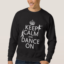 Men's Basic Sweatshirt with Keep Calm and Dance On design