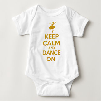 Keep Calm and Dance On Infant Creeper