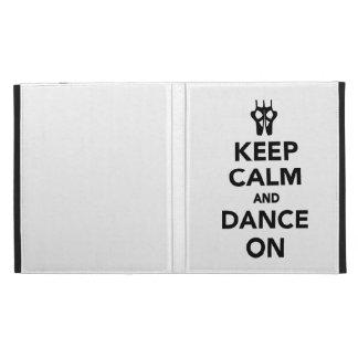 Keep calm and dance on iPad folio cases