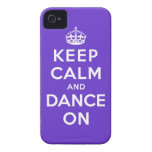 Keep Calm and Dance On iPhone 4 Case-Mate Cases