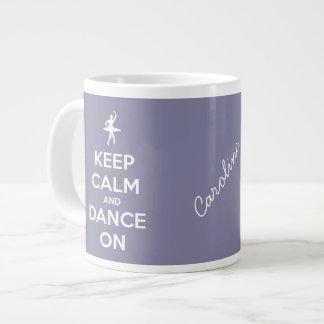 Keep Calm and Dance On Jumbo Lavender Mug