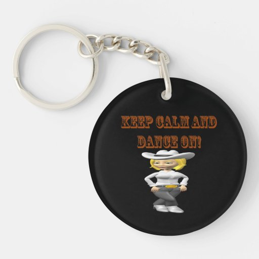 Keep Calm And Dance On Single-Sided Round Acrylic Keychain