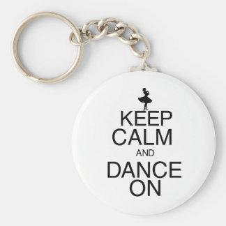 Keep Calm and Dance On Basic Round Button Keychain