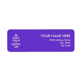 Keep Calm and Dance On Return Address Labels
