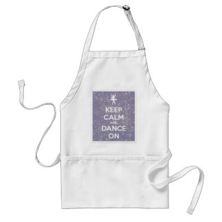 Keep Calm and Dance On Lavender Bokeh Adult Apron