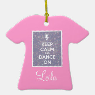 Keep Calm and Dance On Lavender Bokeh Ornament