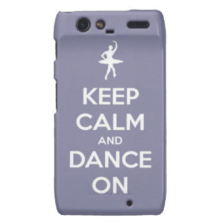 Keep Calm and Dance On Lavender Motorola Droid RAZR Case