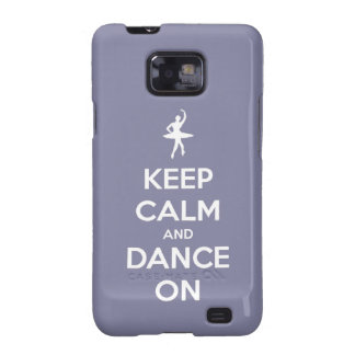 Keep Calm and Dance On Lavender Samsung Galaxy SII Case