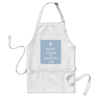 Keep Calm and Dance On Light Blue Adult Apron