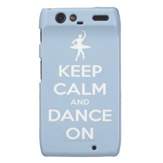 Keep Calm and Dance On Light Blue Droid RAZR Case