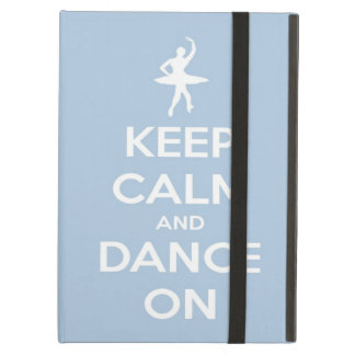Keep Calm and Dance On Light Blue iPad Air Covers