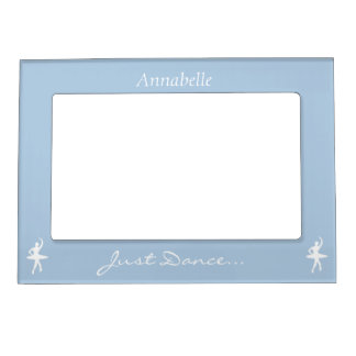 Keep Calm and Dance On Light Blue Magnetic Frame