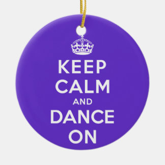 Keep Calm and Dance On Double-Sided Ceramic Round Christmas Ornament