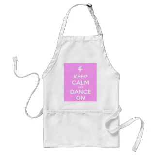 Keep Calm and Dance On Pink Adult Apron