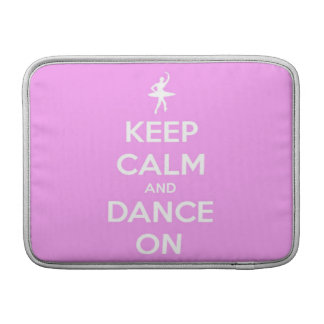 Keep Calm and Dance On Pink Sleeve For MacBook Air