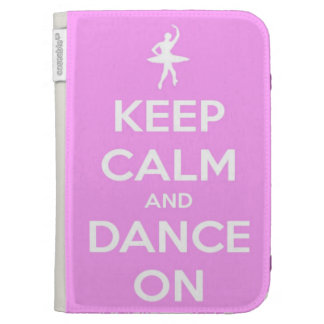 Keep Calm and Dance On Pink Kindle Folio Case