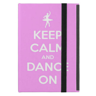 Keep Calm and Dance On Pink Powis Mini iPad Case
