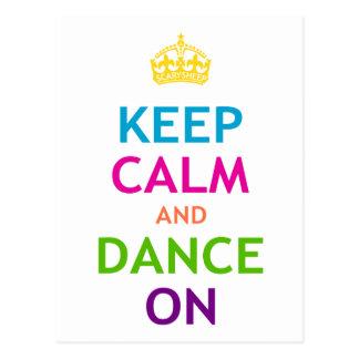 Keep Calm and Dance On Postcard