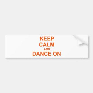 Keep Calm and Dance On red orange pink Bumper Sticker